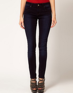 Image 1 ofASOS Supersoft Skinny Jeans in Blue Black