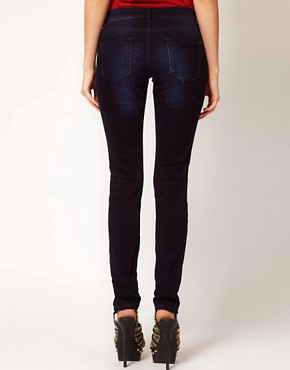 Image 2 ofASOS Supersoft Skinny Jeans in Blue Black