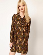 Paul and Joe Sister Shift Dress in Paisley Silk