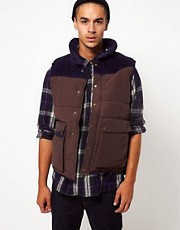Boxfresh Gilet With Contrast Cord