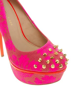 Image 2 ofKG Kactus Fluro Studded Platform Shoes