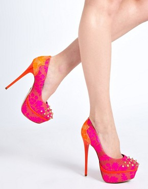 Image 3 ofKG Kactus Fluro Studded Platform Shoes