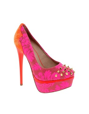 Image 1 ofKG Kactus Fluro Studded Platform Shoes