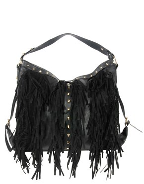 Image 1 ofNew Look Fringe Hobo Bag