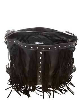 Image 2 ofNew Look Fringe Hobo Bag