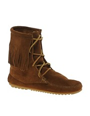 Minnetonka Tramper Brown Hi Ankle Boots