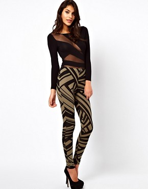 Image 1 ofASOS Leggings in Tribal Print