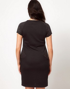 Image 2 ofASOS CURVE Exclusive Jersey Dress With Lace