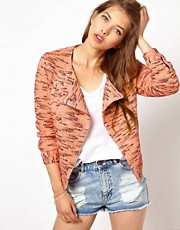 Vanessa Bruno Athe Fluro Knitted Biker Jacket
