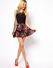 ASOS Skater Skirt in Floral Print