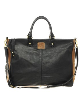 Image 1 of Sara Berman Color Block Leather Cervia Tote