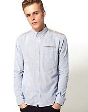 Supremebeing Shirt Nowhaus Stripe Contrast Panel