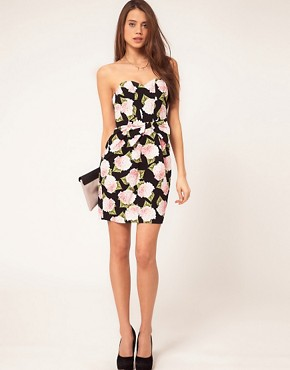Image 4 ofASOS Strapless Dress In Floral Print
