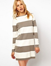 Mango Stripe Knit Jumper Dress