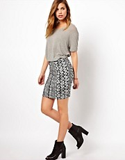 Vila Printed Mini Skirt