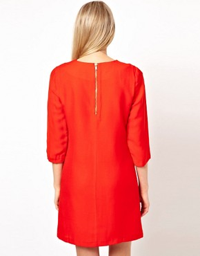 Image 2 ofASOS Shift Dress With Cropped Sleeves