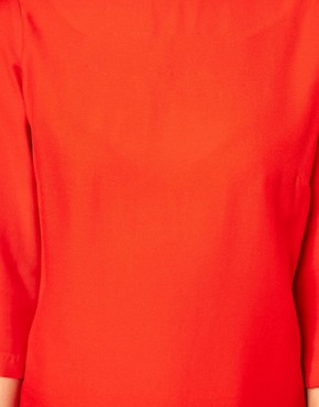 Image 3 ofASOS Shift Dress With Cropped Sleeves