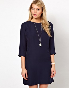 Image 1 ofASOS Shift Dress With Cropped Sleeves