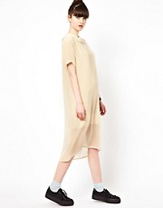 The WhitePepper Chiffon Shift Dress with Collar