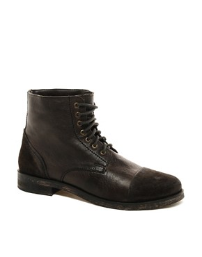 Image 1 ofFrank Wright  Leather Military Boots