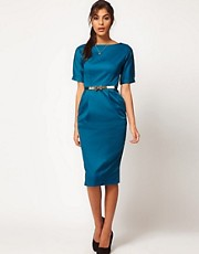ASOS Pencil Dress In Wiggle Shape