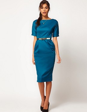 Image 1 ofASOS Pencil Dress In Wiggle Shape