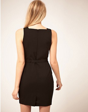 Image 2 ofASOS PETITE Exclusive Tulip Dress With Belt