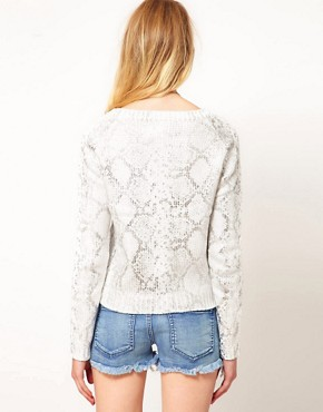 Image 2 ofVila Snakeskin Print Jumper
