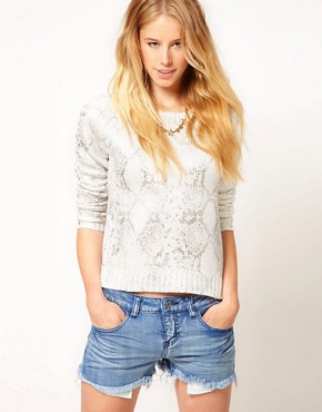 Image 1 ofVila Snakeskin Print Jumper
