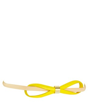 Image 1 ofTed Baker Drewery Leather Skinny Bow Belt