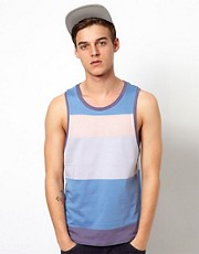 ASOS Stripe Vest With Pastel Tones