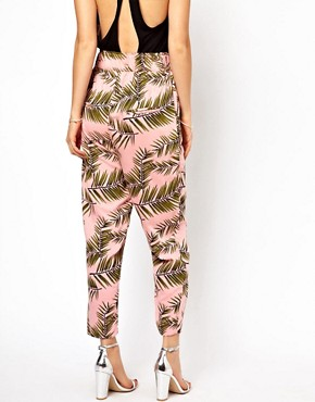 Image 2 ofGanni Trousers in Palm Print