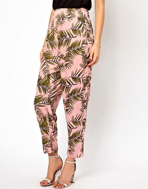 Image 4 ofGanni Trousers in Palm Print