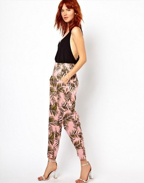 Image 1 ofGanni Trousers in Palm Print