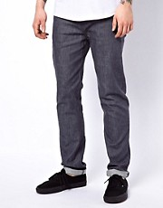 WESC  Eddy  Enge Jeans in rohem Grau