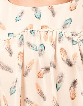 Image 3 ofDarling Feather Print Blouse