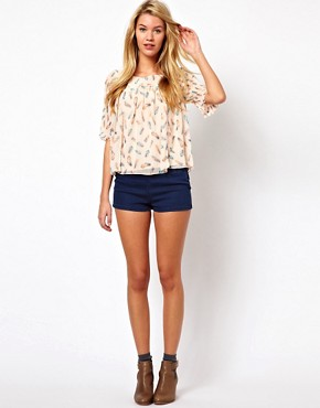Image 4 ofDarling Feather Print Blouse