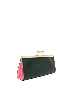 Image 2 ofTed Baker Leather Evangel Frame Purse