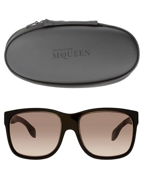 Image 2 ofAlexander McQueen Rectangular Sunglasses