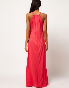Image 2 ofASOS Maxi Dress With Halter Neck