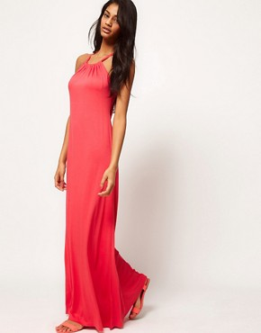 Image 4 ofASOS Maxi Dress With Halter Neck