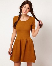 b + ab Pointelle Knit Dress