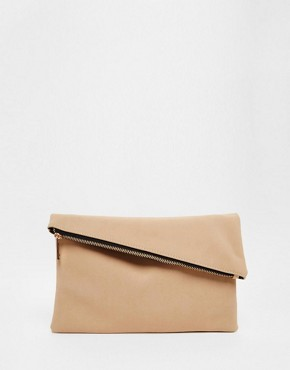 ASOS Square Clutch Bag with Slanted Zip Top
