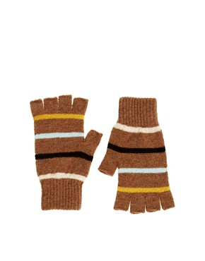Image 1 ofQuinton &amp; Chadwick Fingerless Stripe Gloves