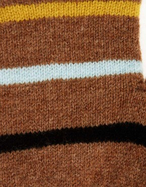 Image 2 ofQuinton &amp; Chadwick Fingerless Stripe Gloves