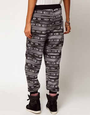 Image 2 ofASOS Sweatpants in Metallic Aztec Print