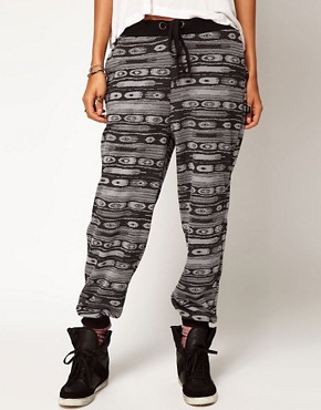 Image 4 ofASOS Sweatpants in Metallic Aztec Print