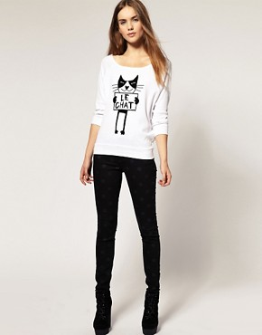 Image 4 ofRiver Island &#39;Le Chat&#39; Dolman Top