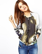Diesel Printed Bomber Jacket