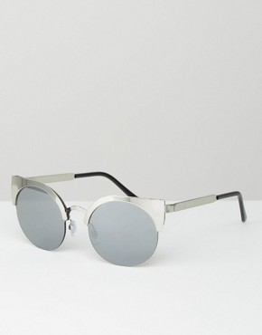 Monki Cat Eye Metal Sunglasses
